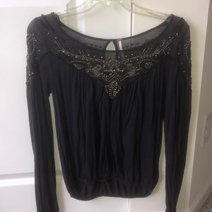 Embroidered Free People Top
